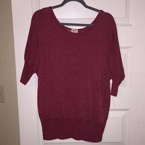 Mossimo red dolman sleeve knit top